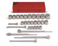 "Wright Tool - 29 pc 1"" Dr. 12 Pt. Standard Socket Set Set # 829 USA Mfg ** Free Shipping **"