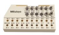 Mitutoyo - 6PC Screw Thread Micrometer Anvil Spindle Set M1-M6 126-800