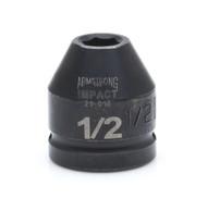 """Armstrong -  9/16"""" - 3/4"""" Dr Impact Socket 6 Pt 21-018 USA Mfg"""