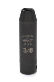 """Armstrong -  1-3/4"""" - 1"""" Dr Deep Impact Socket 6 Pt 22-256 USA Mfg"""