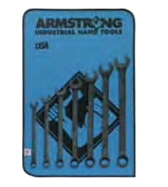 Armstrong - 7 Pc. 12 Pt SAE Long Pattern Black Oxide Combination Wrench Set (3/8 - 3/4 )30-631 ( Last Set)