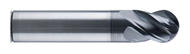 """0.375 - 3/8 x 1"""" loc x 3"""" oal Ball SE 4FL UHP Variable Hel Carbide E/M's w C3 Coating - 322030"""