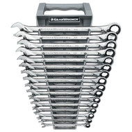 GearWrench - 16 Pc. 12 Point Metric XL Combination Ratcheting Wrench Set 8mm - 24mm