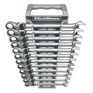 GearWrench - 12 Pc. 12 Point Metric XL Locking Flex Combination Ratcheting Wrench Set 8mm - 19mm  **Free Shipping**