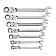GearWrench - 7 Pc. 12 Point SAE Flex Combination Ratcheting Wrench Set 3/8 - 3/4 **Free Shipping**