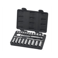 """GearWrench - 24 Pc. 3/8"""" Dr 6 and 12 Point Metric Std and Deep Mechanics Tool Set 8mm - 19mm"""