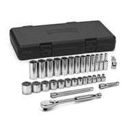 """GearWrench - 30 Pc. 3/8"""" Dr 12 Point SAE Std and Deep Mechanics Tool Set 1/4 - 1"""