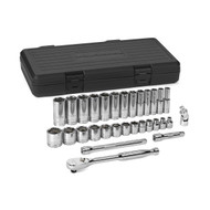 """GearWrench - 30 Pc. 3/8"""" Dr 6 Point SAE Std and Deep Mechanics Tool Set 1/4 - 1"""