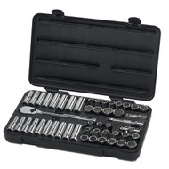 "GearWrench - 49 Pc. 1/2"" Dr 12 Point SAE/Metric Std and Deep Mech Tool Set 7/16 - 1, 10mm - 24mm ** Free Shipping**"