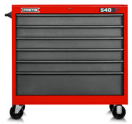 """PROTO - 540S Series 41"""" Workstation - 6 Drawer Safety Red & Gray J544142-6SG  USA Mfg. (Made to order - Delivery 5-6 Weeks)"""