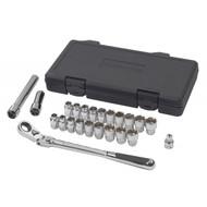 "GearWrench - 23 Pc. 3/8"" Drive 6 Point SAE/Metric Pass-Thru® with Locking Flex GearRatchet™ Mechanics Tool Set"