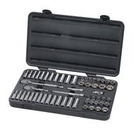 "GearWrench - 57 Pc. 3/8"" Drive 6 Point Standard & Deep SAE/Metric Mechanics Tool Set"