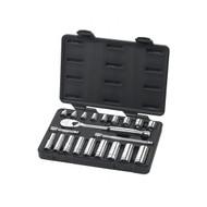 "GearWrench - 21 Pc. 3/8"" Drive 6 & 12 Point Standard & Deep SAE Mechanics Tool Set"