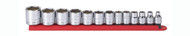 """GearWrench - 13 Pc. 3/8"""" Drive 6 Point Standard SAE Socket Set 1/4"""" - 1"""""""