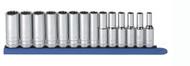 "GearWrench - 14 Pc. 3/8"" Drive 12 Point Deep Metric Socket Set 6mm - 19mm"