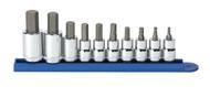 "GearWrench - 10 Pc. 3/8"" & 1/2"" Drive Hex Bit Metric Socket Set 4mm-17mm"