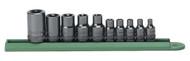 """GearWrench - 10 Pc. 1/4"""", 3/8"""" & 1/2"""" Drive External Torx® Socket Set E4 - E18"""