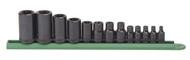 """GearWrench - 13 Pc. 1/4"""", 3/8"""" & 1/2"""" Drive External Torx® Socket Set  E4 - E24"""