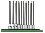 """GearWrench - 10 Pc. 1/4"""" & 3/8"""" Drive Long Torx® Bit Socket Set T8 - T50"""