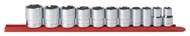 """GearWrench - 11 Pc. 1/2"""" Dr 6 Pt Standard SAE Socket Set 1/2"""" -1-1/8"""""""