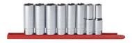 """GearWrench - 8 Pc. 1/2"""" Drive 6 Point Deep SAE Socket Set 1/2"""" - 15/16"""""""