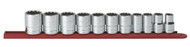 """GearWrench - 11 Pc. 1/2"""" Drive 12 Point Standard SAE Socket Set 1/2"""" - 1-1/8"""""""