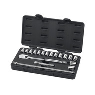 "GearWrench - 18 Pc. 1/2"" Drive 6 Point Standard Metric Mechanics Tool Set 10mm - 24mm"