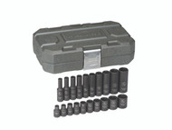 "GearWrench - 20 Pc. 1/4"" Drive 6 Point SAE Standard & Deep Impact Socket Set 3/16"" - 9/16"""