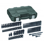"""GearWrench - 44 Pc. 3/8"""" Drive 6 Point SAE/Metric Std. and Deep Impact Socket Set 5/16"""" - 3/4"""", 8mm - 21mm"""