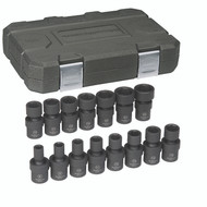"""GearWrench - 15 Pc. 3/8"""" Drive 6 Point Metric Impact Universal Socket Set 8mm - 22mm"""