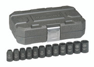 """GearWrench - 12 Pc. 1/2"""" Drive 6 Point Metric Impact Socket Set 8mm - 19mm"""