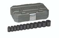 """GearWrench - 12 Pc. 1/2"""" Drive 6 Point SAE Impact Socket Set 3/8"""" - 1-1/16"""