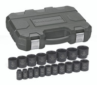 """GearWrench - 19 Pc. 1/2"""" Drive 6 Point SAE Impact Socket Set 3/8"""" - 1-1/2"""""""