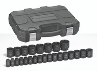 """GearWrench - 25 Pc. 1/2"""" Drive 6 Point Metric Impact Socket Set 8mm - 36mm"""