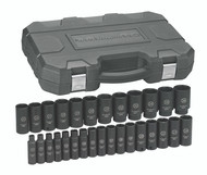 """GearWrench - 29 Pc. 1/2"""" Drive 6 Point Metric Deep Impact Socket Set 8mm - 36mm"""
