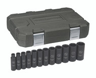 """GearWrench - 12 Pc. 1/2"""" Drive 6 Point SAE Deep Impact Socket Set 3/8"""" - 1-1/16"""""""