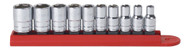 """GearWrench - 10 Pc. 1/4"""" Drive 6 Point SAE Standard Socket Set 3/16"""" - 9/16"""""""