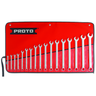 Proto - 17 Piece Full Polish Metric Combination Wrench Set 12 Point 7mm-24mm