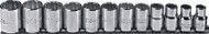 "Proto - 3/8"" Drive 12 Piece Metric 12 Point Socket Set 8mm - 19mm USA Mfg"