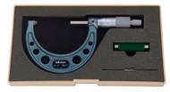"""Mitutoyo - 3"""" Micrometer .0001 RA Hammertone Baked Enamel w Certificate 103-217"""