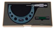"""Mitutoyo - 4"""" Micrometer .0001 RA Hammertone Baked Enamel w Certificate 103-218"""