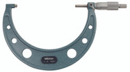 """Mitutoyo - 6"""" Micrometer .0001 RA Hammertone Baked Enamel W Certificate 103-220"""