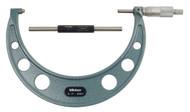 """Mitutoyo - 7"""" Micrometer .0001 RA Hammertone Baked Enamel w Certificate 103-221"""