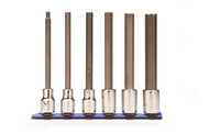 "Wright Tool - 1/2"" Dr 6 Piece Set Hex Bit Sockets w/Long Length Metric Bit 6mm - 17mm USA Mfg"