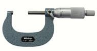 """Mitutoyo - 2"""" Micrometer .0001 RA Hammertone Baked Enamel w Certificate 103-262"""