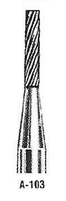 """Atrax Carbide Burr - A-103 Cylindrical Burr Diamond Cut 1/4"""" shk x 1/8"""" Head x 1-1/2"""" oal USA Mfg"""