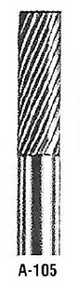 "Atrax Carbide Burr - A-105 Cylindrical Burr Fine Cut 1/4"" shk x 1/4"" Head x 2"" oal USA Mfg"