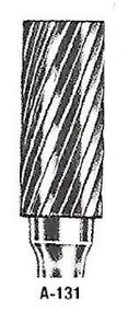 "Atrax Carbide Burr - AE-131 Cylindrical Burr End Cutting 1/4"" shk x 7/16"" Head x 3"" oal USA Mfg"