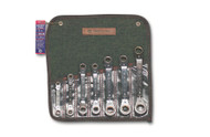 Wright Tool - 7 Pc  Reverse Ratcheting Box Wrench -6 & 12 Point Offset Metric 7mm - 21mm USA Mfg