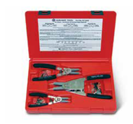 Wright Tool -3 Piece Retaining Ring Plier Set in Plastic Box - includes 9H1221S, 9H1234, 9H65 and Replaceable Tips USA Mfg